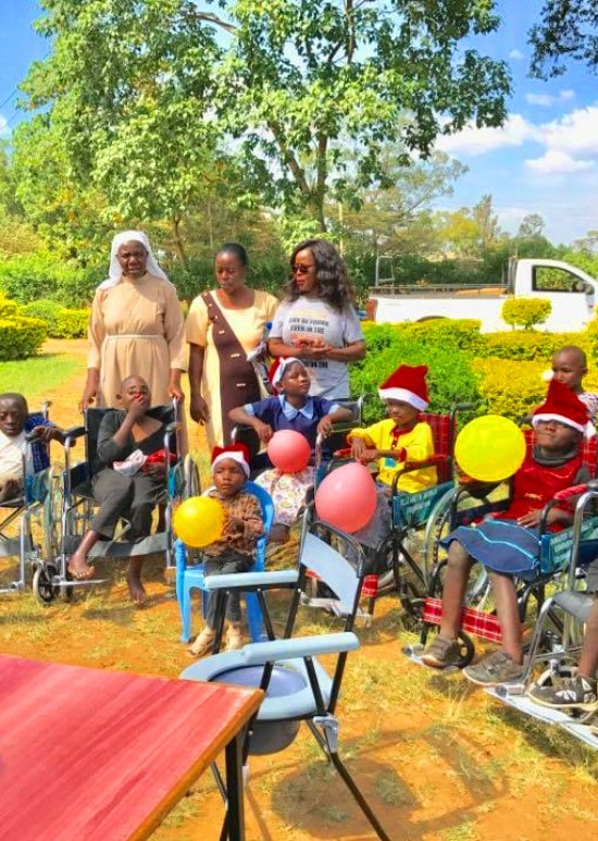 One activity is to reach out for the children living with disability and support them.